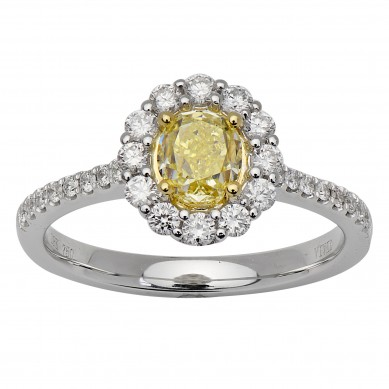 Fancy Colored Diamond Ring (1.02 ct. tw.) - YR003622 - Small Image