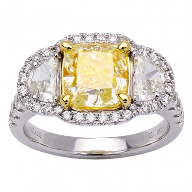 Fancy Colored Diamond Ring (4.09 ct. tw.) - YR003623 - Small Image