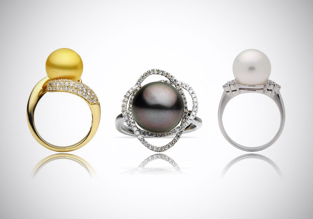 with v pearl cultured white c in three ring freshwater gold rings slant stone zales